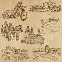 Traveling series: POLAND (set no.1) - vector collection