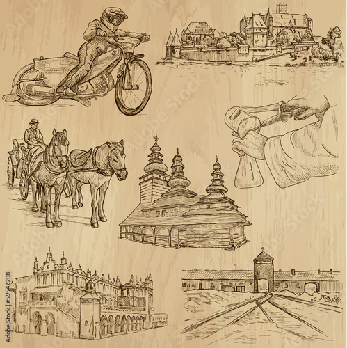 Traveling series: POLAND (set no.1) - vector collection