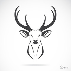 Vector image of an deer head