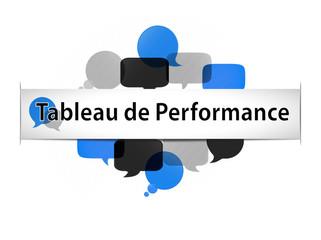 bannière titre infographie : tableau de performance