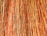 background wicker broom. macro