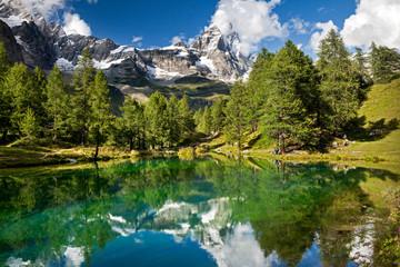 Lago Blu e Cervino, Cervinia, Italia