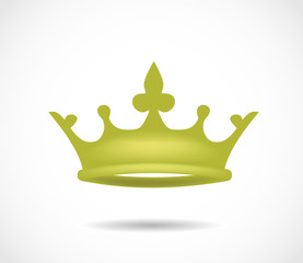 Golden crown isolated on a white background illustration VECTOR