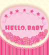 card - congratulations on the birth of a girl