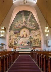 Fresco over altar of Rovaniemi Church.