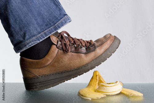 Slip on a banana skin