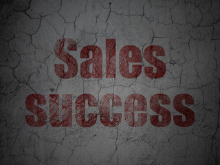 Advertising concept: Sales Success on grunge wall background