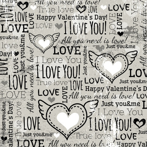 background with  valentine heart and wishes text,  vector