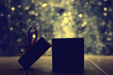 Gift box on abstract background
