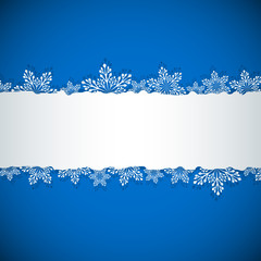 Blue Christmas banner with white copy space