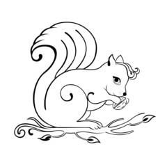 eichhörnchen outlines