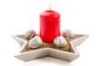 Weihnachtliche rote Kerze