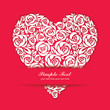 Floral paper-cutting heart