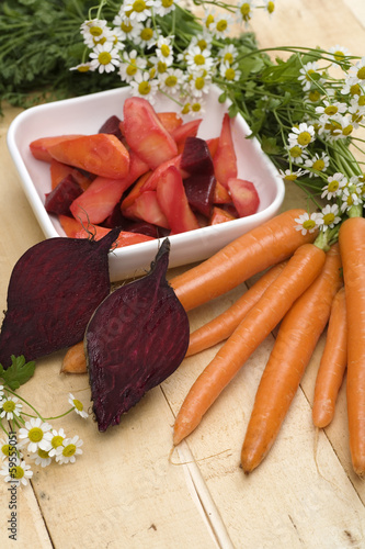 Möhren-Rote-Beete-Gemüse