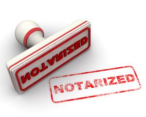 Notarized (нотариально заверенный). Печать и оттиск