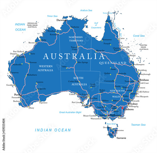 australien-strasenkarte