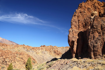 Rocky cliff of Teide National Park