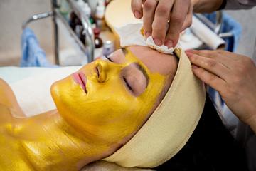 Gold facial mask