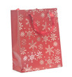 christmas shopping bag on white