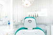 Detail of dentist chair at local dental private clinic - 59557271