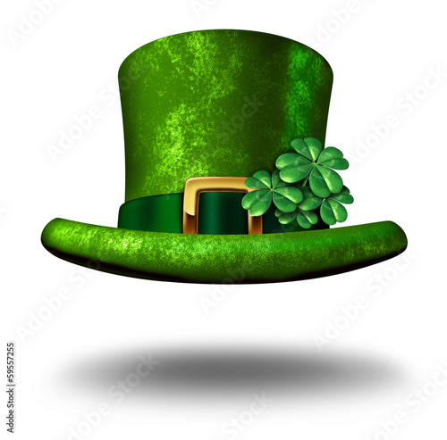 Green Shamrock Top Hat