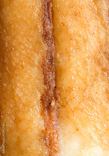 background of smoked bacon. macro