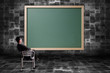 chalkboards with empty room background