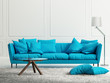 Blue fresh style, classical interior living room