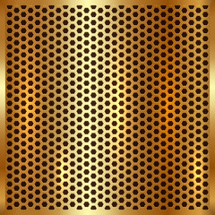 Vector metallic gold cell background