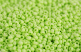 Green beads closeup