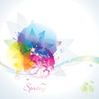 Abstract colorful floral spring background.