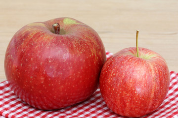 Different kinds and sizes of Red Apples in Europe