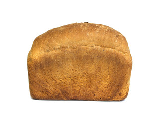 Whole fresh loaf of bread isolated on white