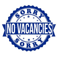 No vacancies stamp
