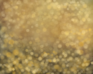 Abstract gold background with fires