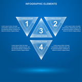 glass triangle infographic