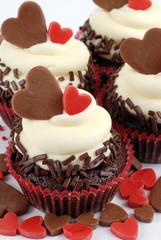 cupcake con cuori