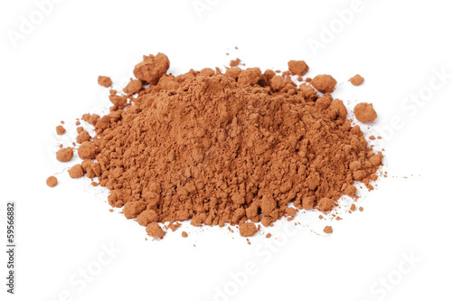 heap of fresh cacao powder