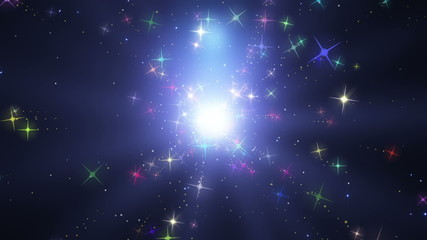 宇宙のカラフル星