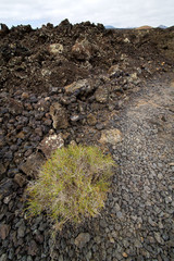 stone volcanes lanzarote  volcanic timanfaya  sky  hill