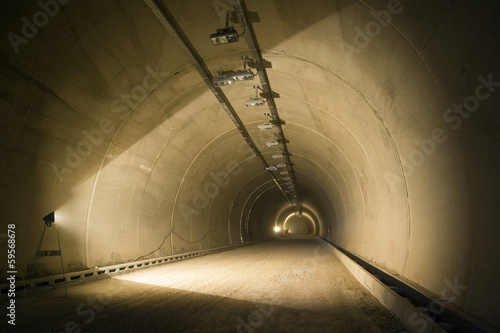 Concrete works in tunnel on highway A1 in Croatia