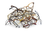 Bunch of unneeded glasses ready for donation to Third World