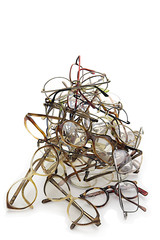 unneeded glasses ready for donation- Recycling for Third World