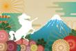 白馬と富士山