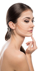 Cosmetic surgery. Beautiful woman ready for rejuvenation therapy