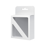 White Product Package Box With Rectangular Window