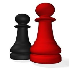 Kampf der Schachfiguren