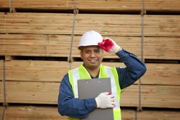 Portrait asian carpenter