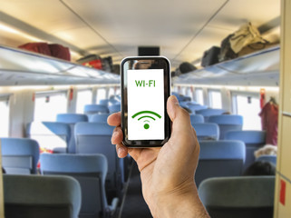 connect wifi on the train