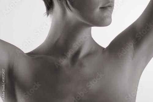 canvas print picture weiblicher Hals